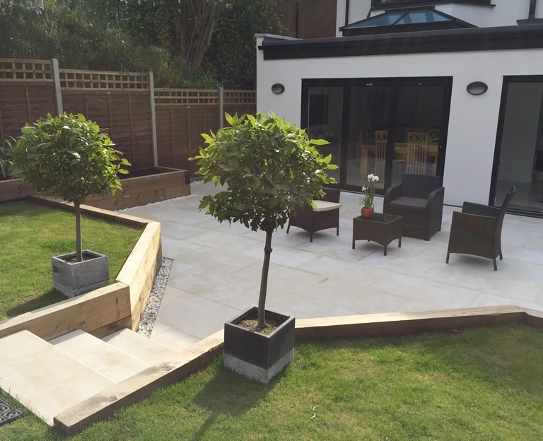 Contemporary Patio, Cheam