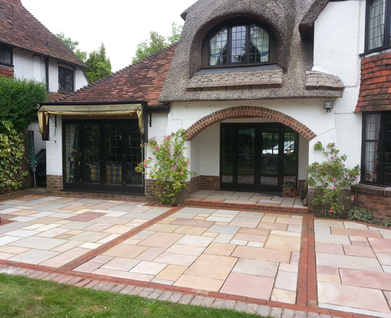 Traditional Clay Paver Patio, East Horsley